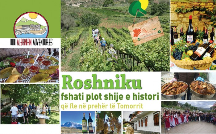 Albanian Food Tours 2018 - Roshniku, the characteristic village in the foot of Tomorri Mountain