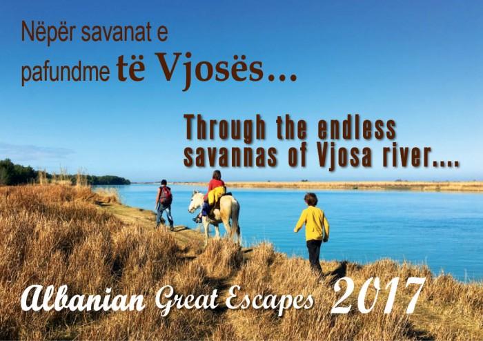 Through the endless  savannas of Vjosa river....  Nëpër savanat e  pafundme të Vjosës…