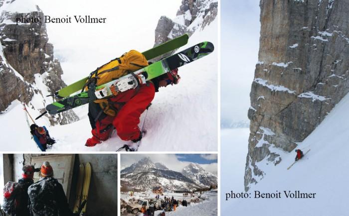 Valbona e skiatorëve alpinistë
